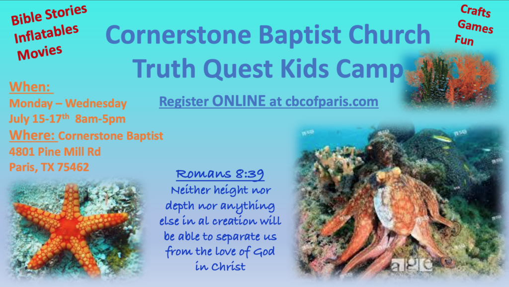 Truth Quest Day Camp 2019
